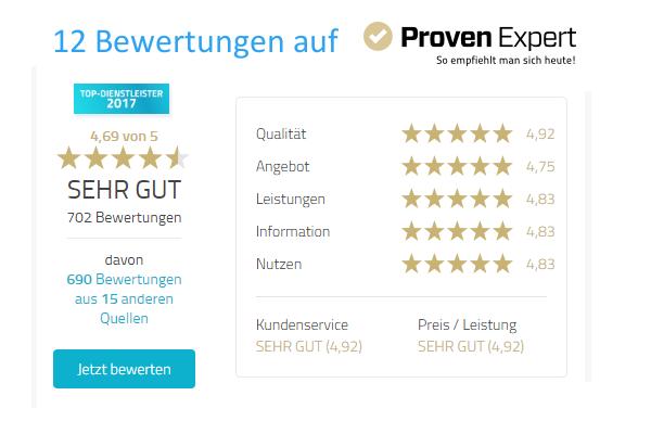 Proven Expert Bewertungen